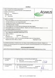 Zertifikat Entsorgungsfachbetrieb AGIMUS